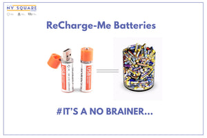 USB Recharge-ME Batteries - NY Square