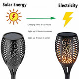 Outdoor Solar Flame Light Torch - NY Square
