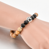 Beautiful Natural Stone Beads With Dog Paw Bracelets - NY Square
