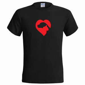 Cat And Dog Love Shaped Logo T-Shirt - NY Square