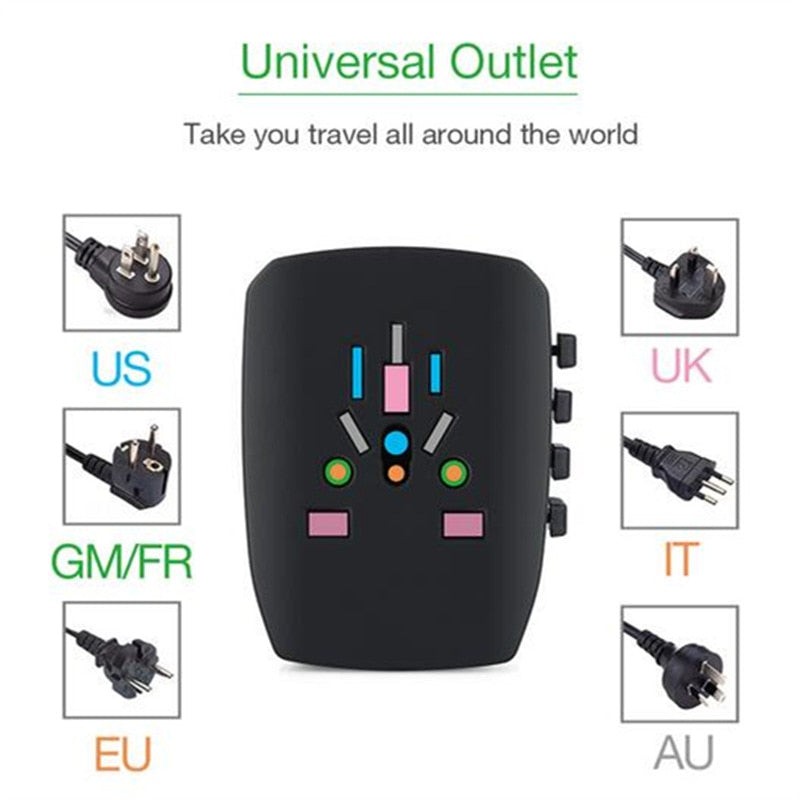 Global Travel Plug Adapter - NY Square
