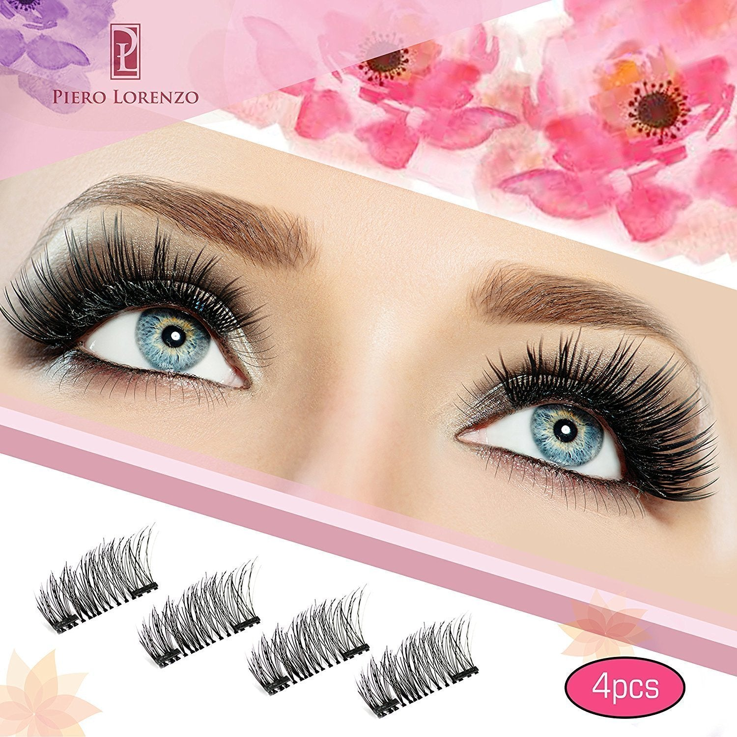 b5e822146d7 Load image into Gallery viewer, Magnetic Eyelashes Dual Magnet Glue-free 3D  Reusable Full ...