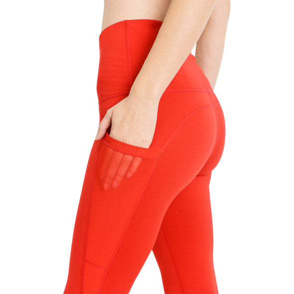 High Waist Splice Mesh Pocket Full Leggings