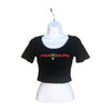 Short Sleeve Woman's Crop Top