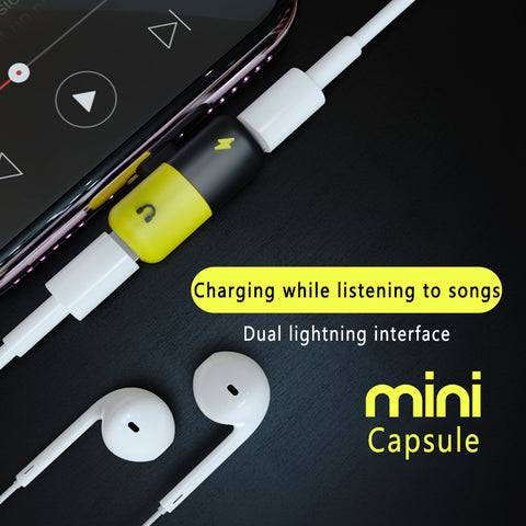 Image of FEXCEL 2 in 1 iPhone Charger & Earphones Splitter