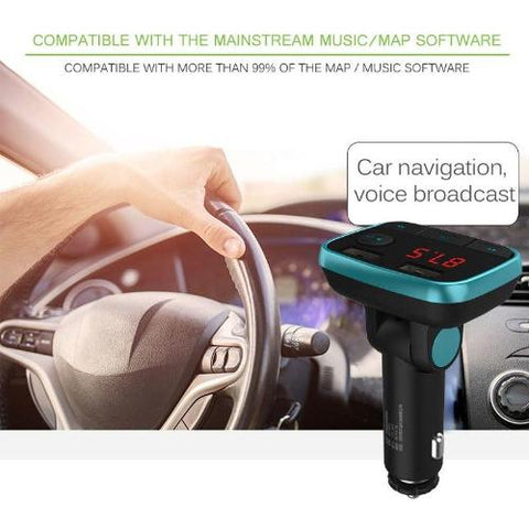 Image of Bluetooth Car Kit with USB Ports
