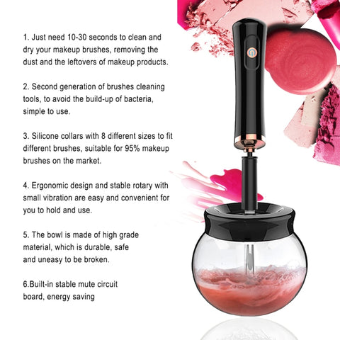 Image of Electric Makeup Brush Cleaner
