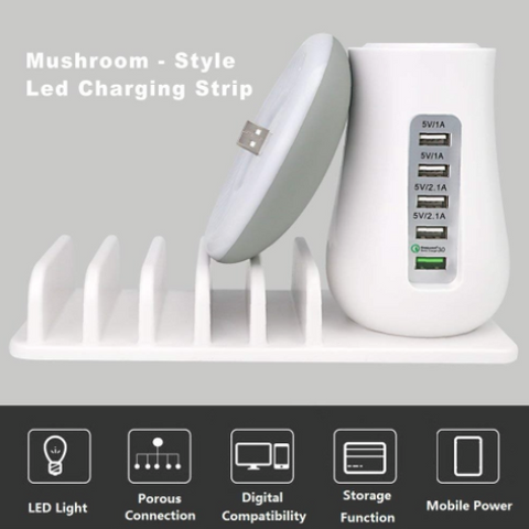Mushroom Light & Charging Station