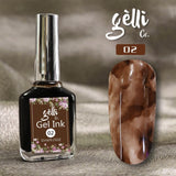 Ink Soak-Off Gel Polish ● Gellico ● Marble Nail Art Design ● Create beautiful marble and watercolor, tie-dye effects with water-based Gel Inks! ●