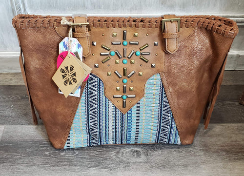 Blue Aztec Purse