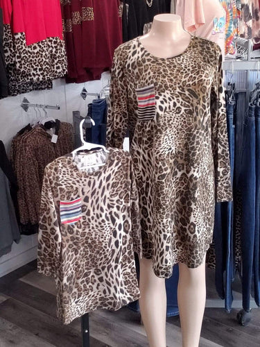 dress Mommy and Me Cheetah Dress (Womens Dress)