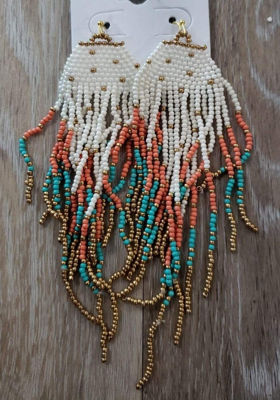earrings Multi Fringe Beaded Earrings