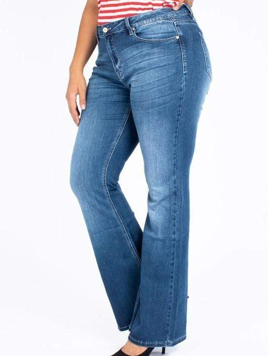 Flare Pants Kancan Plus Size Jean - High Rise Flare