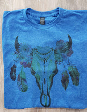 Graphic T-Shirt S / Dark Blue Short Sleeve Skull Shirt