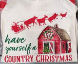 Graphic T-Shirt S Have Yourself A Country Christmas
