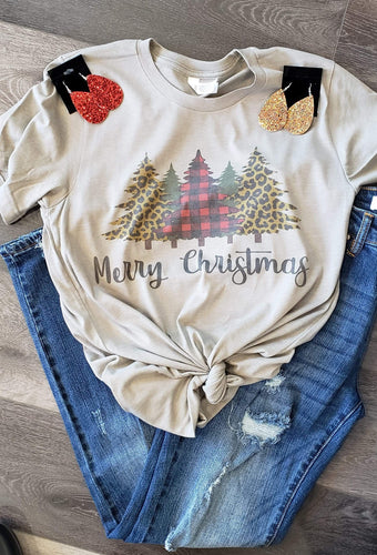 Graphic T-Shirt Short sleeve Merry Christmas