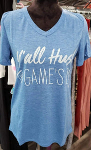 Graphic T-Shirt T-shirt - Y'all Hush the Game's On