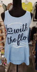Graphic T-Shirt Tank (Go With the Flow) - Plus size available