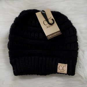 Hair Accessories Black Kids Black CC Beanie
