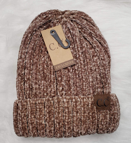 Hair Accessories Brown/Beige Brown/Beige CC Beanie