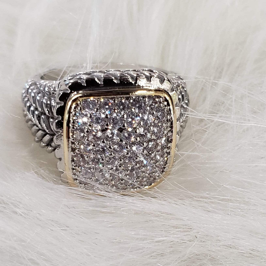 Jewelry 7 Square CZ Ring