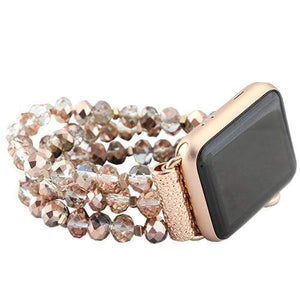 Jewelry Beaded Rose Gold Apple Watch bands S/M 38mm and 42mm