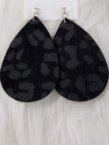 Jewelry Black Fabric Earrings