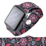 Jewelry Black/Paisley S/M 38MM Apple Watch bands S/M 38mm and 42mm