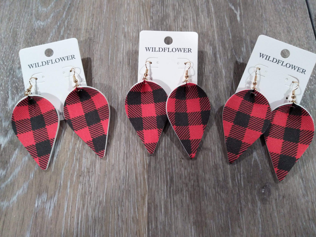 Jewelry Buffalo plaid earrings