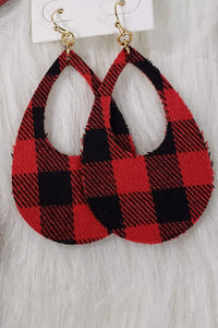 Jewelry Buffalo Plaid Fabric Earrings
