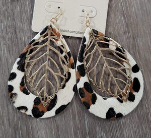 Jewelry Cheetah Teardrop Earring
