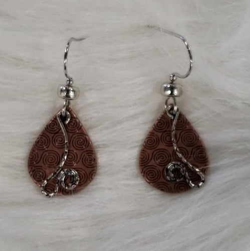 Jewelry Copper Teardrop Earrings