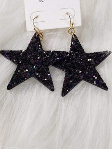Jewelry Glitter Star Earrings