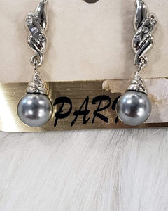 Jewelry Gray Pearl Earrings