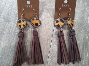 Jewelry Leather tassle leopard