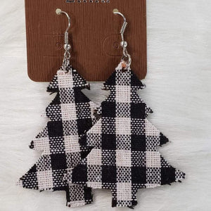 Jewelry Plaid Christmas Earrings