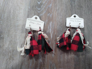 Jewelry Red Christmas Earrings