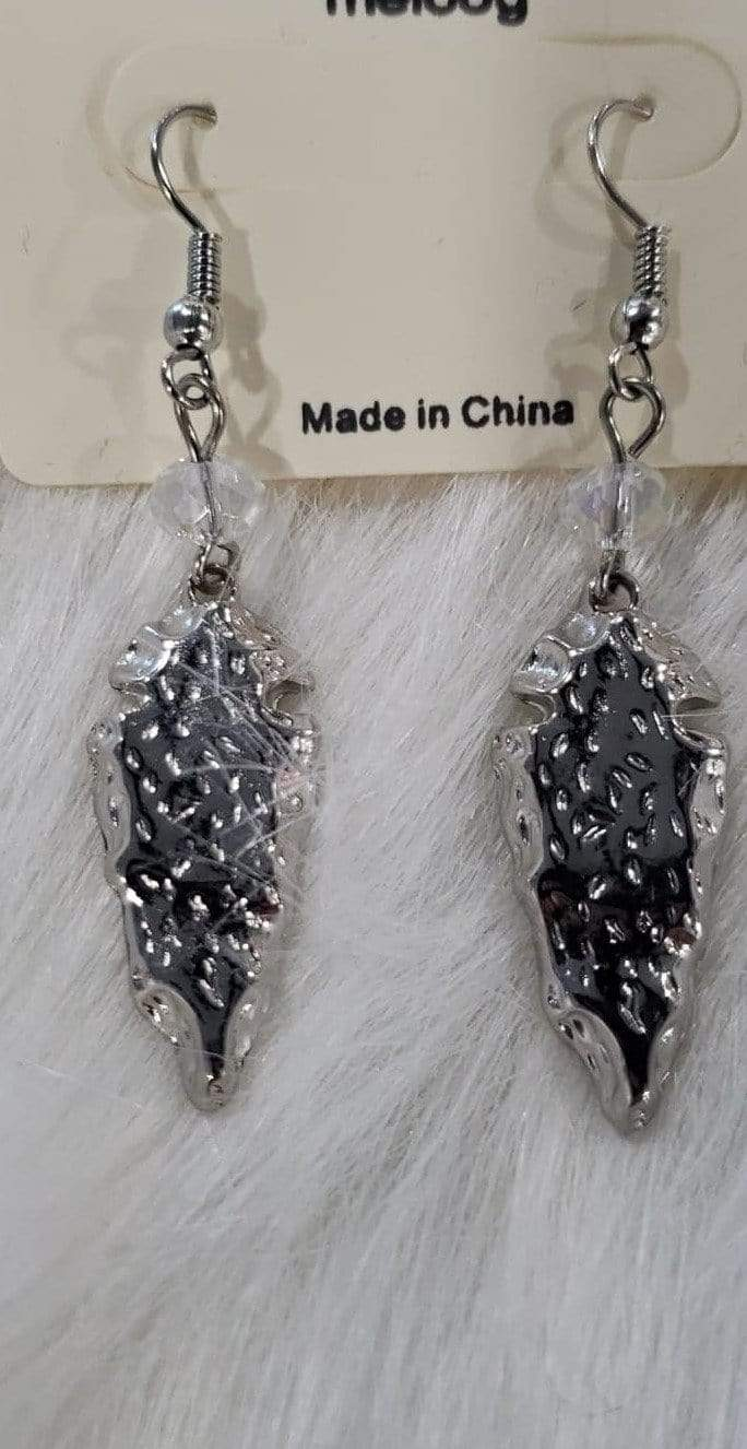Jewelry Silver Arrowhead Earrings