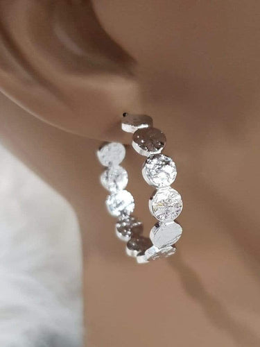 Jewelry Silver Circle Hoop Earrings