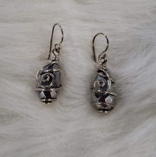Jewelry Silver Decorative Stone Earrings
