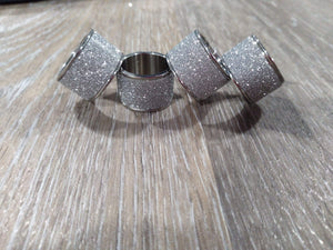 Jewelry Silver glittered scarf rings