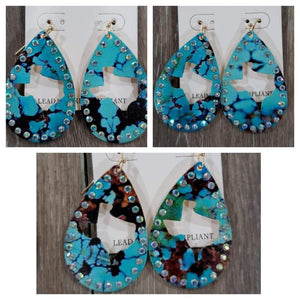 Jewelry Turquoise Metal Earrings