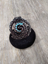 Jewelry Turquoise spiral ring