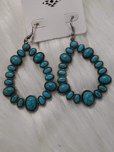 Jewelry Turquoise Teardrop 2  Earrings