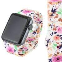 Jewelry White/Floral S/M 38mm Apple Watch bands S/M 38mm and 42mm