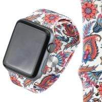 Jewelry White/Paisley S/M  38mm Apple Watch bands S/M 38mm and 42mm