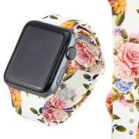 Jewelry White/Pink Rose S/M 42mm Apple Watch bands S/M 38mm and 42mm