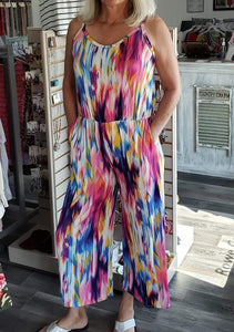 Jumpsuit Multi Color Jumpsuit - Plus Size