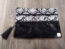 Make-up Bag Black/Snakeskin The Versi Bag