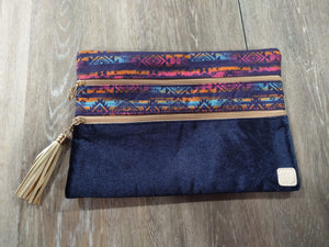 Make-up Bag Blue Velvet/Aztec The Versi Bag